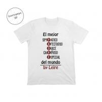 Camiseta Personalizada Papá Blanca