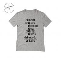 Camiseta Personalizada Papá gris