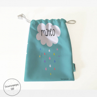 Pack Bolsas Merienda Personalizadas Nubes