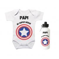 Pack Ahorro Papá Body más Botella Héroe para regalar al papi