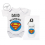 Pack Ahorro Papá Body más Botella Superman. Regalos para el día del padre