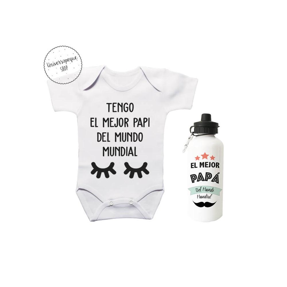 Pack Ahorro Papá Body más Botella Pestañas para la bebé y el papi