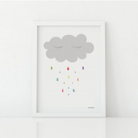 Lámina Infantil nube lámina decorativa recién nacido