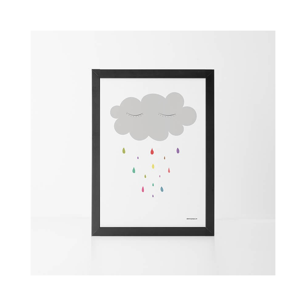 Lámina Infantil nube lámina decorativa bebe