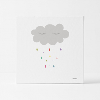 Lámina Infantil nube para habitación del bebé, Niña o Niño
