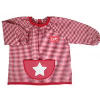 babi estrella cuadros rojos y blanco