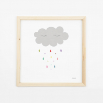 Lámina Infantil nube lámina decorativa habitación bebé