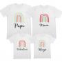 Camiseta Personalizada Familiar Arco Iris para vestir todos iguales