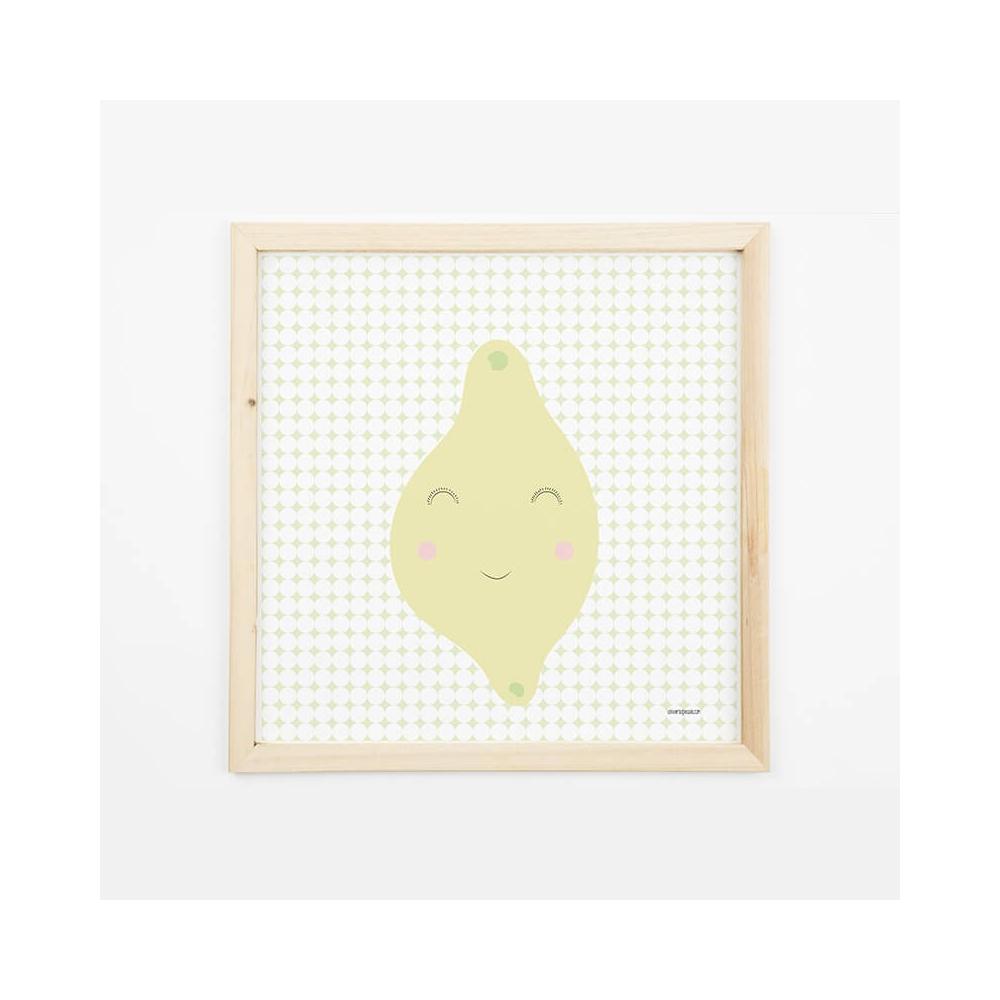 Lámina Infantil limón Amarillo decoración habitación bebé