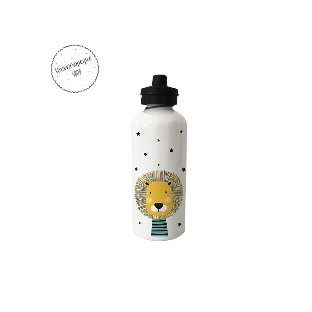 Botella Infantil Personalizada León Ocre
