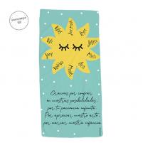 toalla personalizada profe sol