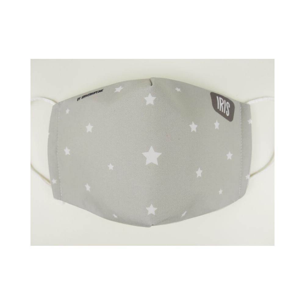 Mascarilla personalizada estrellas gris