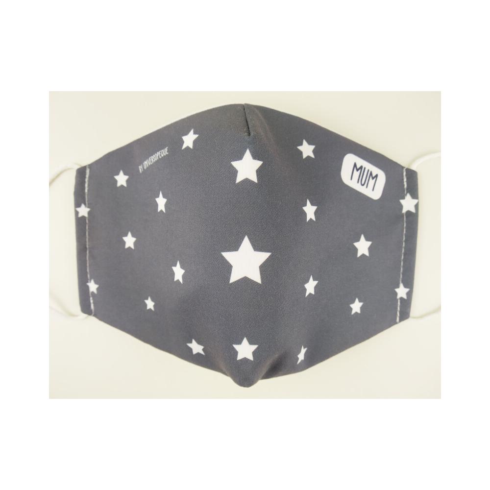 mascarilla personalizada estrellas azul marino