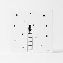 Lámina Infantil Niña alcanzando las estrellas lámina decorativa infantil