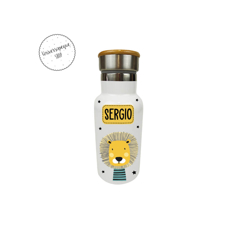 Botella Térmica Personalizada León Animales