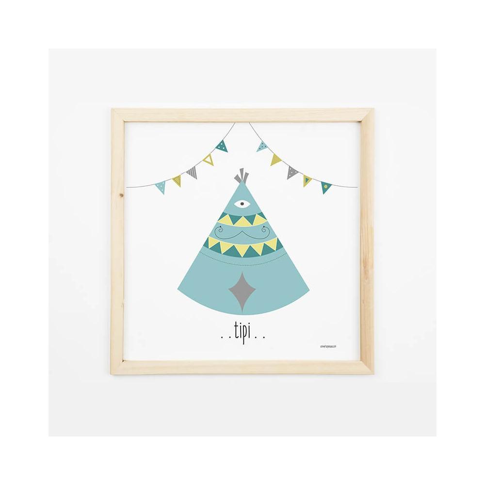 Lámina Infantil Tipi láminas decorativas para bebé, niña o niño