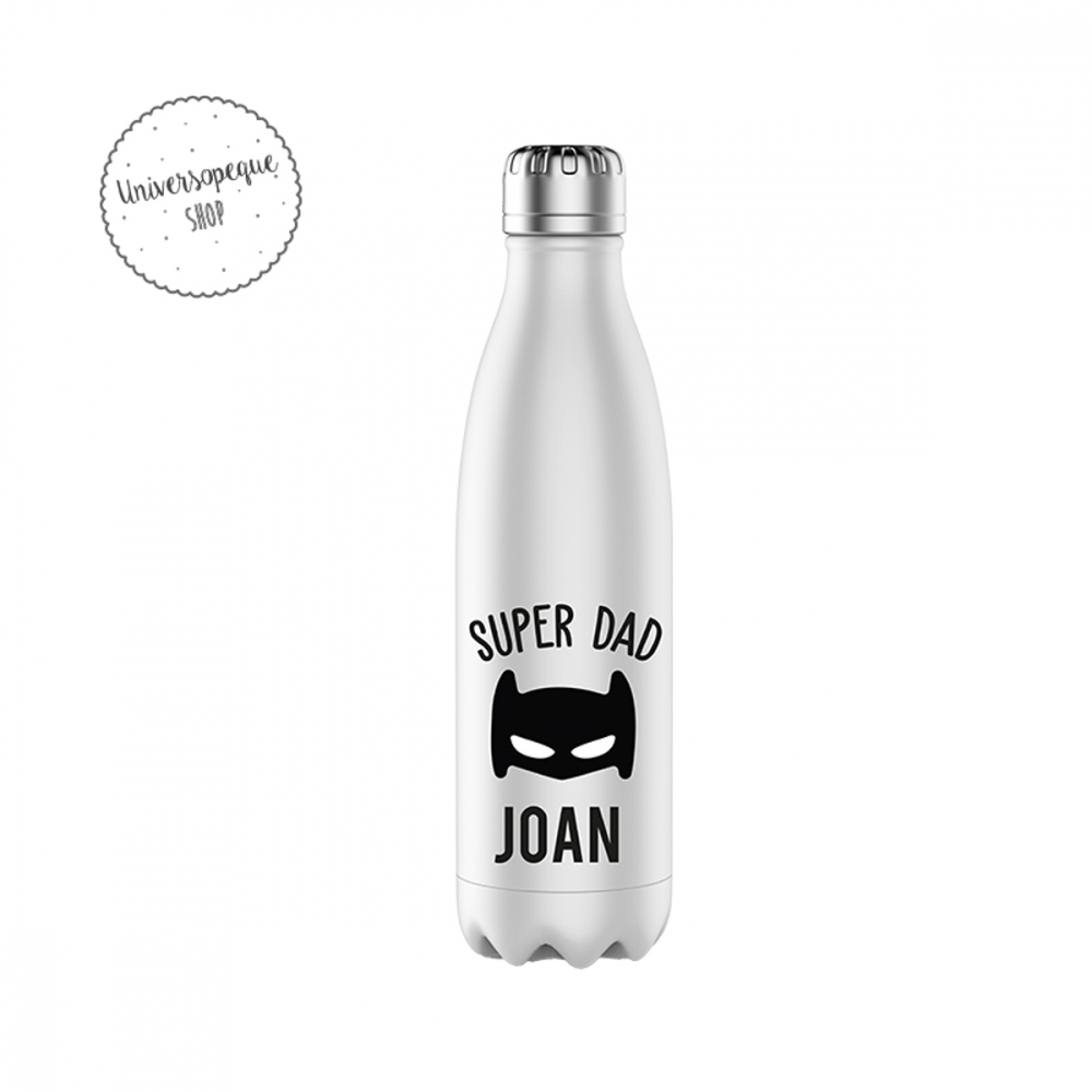 botella acero personalizada papa