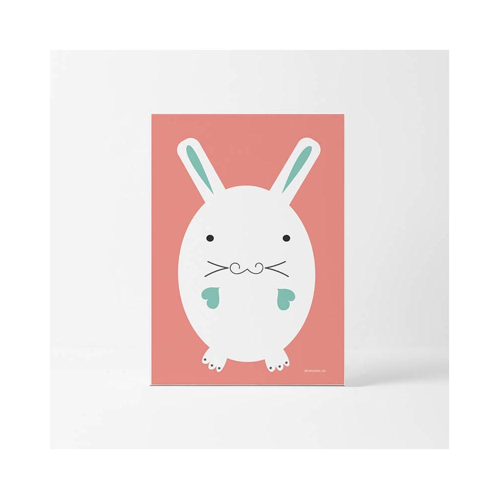 Lámina Infantil Animal Conejo cuadro infantil decorativo unisex