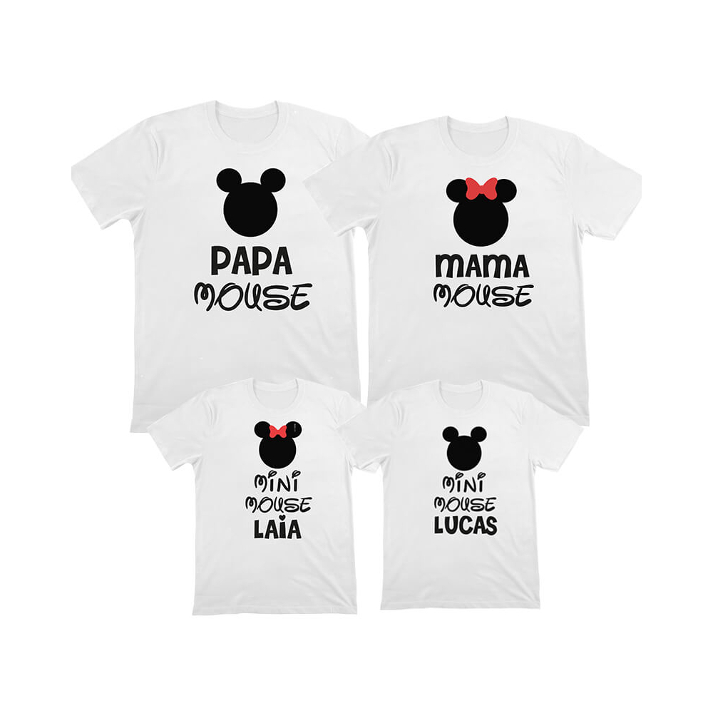 camiseta personalizada familiar mickey minnie