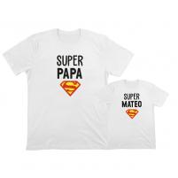 camiseta personalizada papa e hijo superman