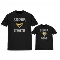 camisetas iguales superwoman glitter