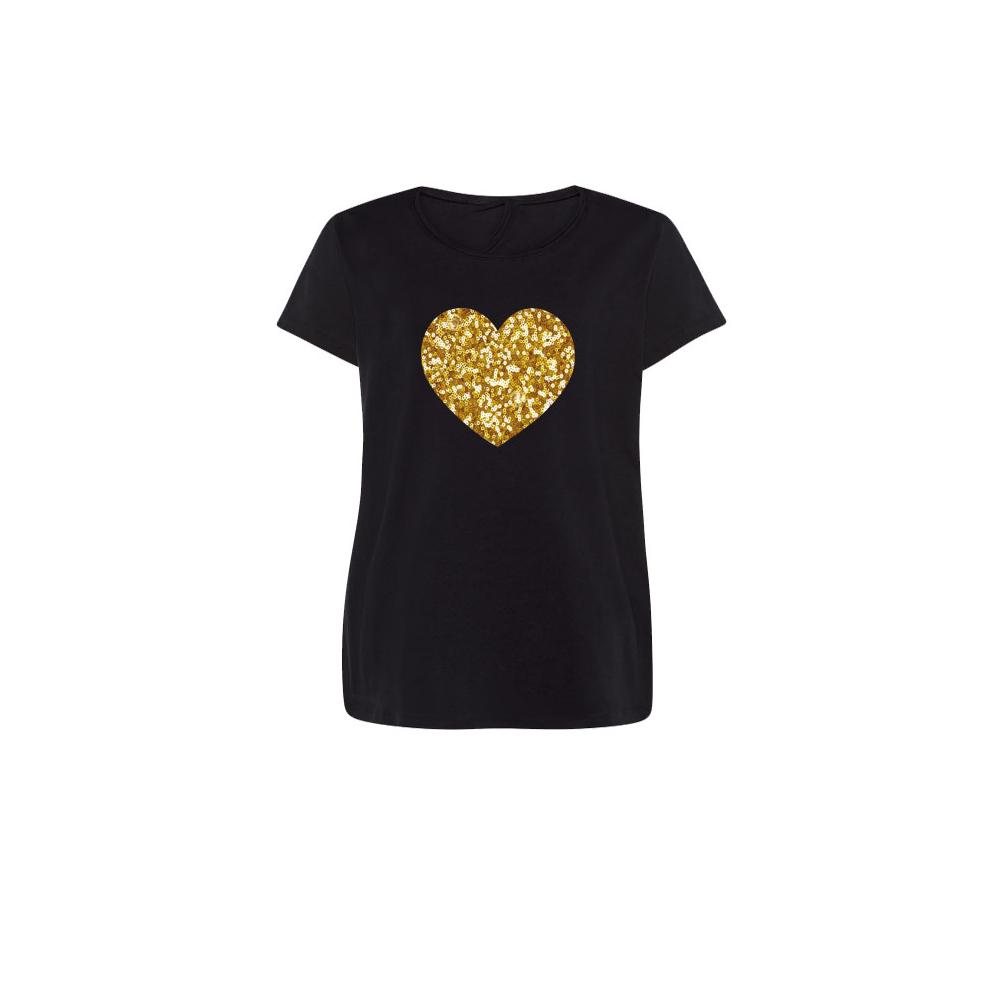 camiseta lentejuelas doradas