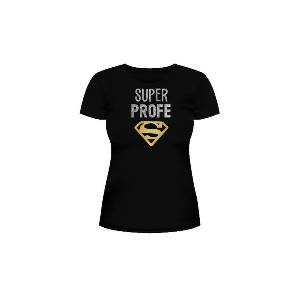 Camiseta Super Profe Glitter