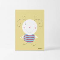 Lámina Infantil Animal Antenita cuadro infantil decorativo