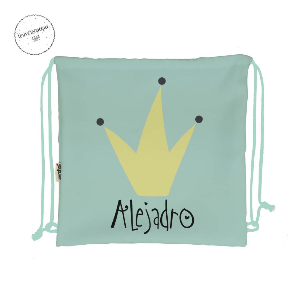 mochila para la guarderia personalizada rey