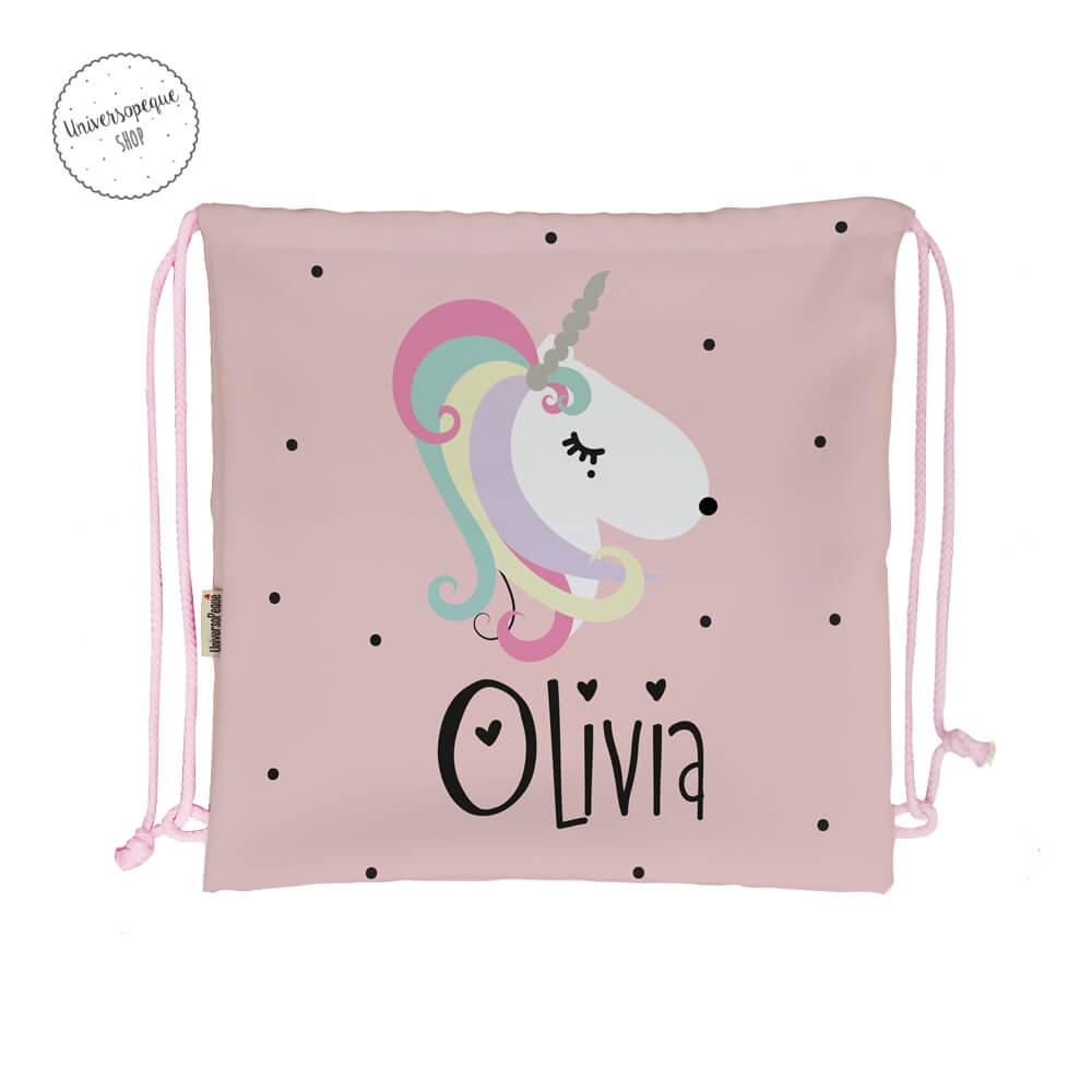 Mochila para la guardería personalizada con el diseño de un unicornio