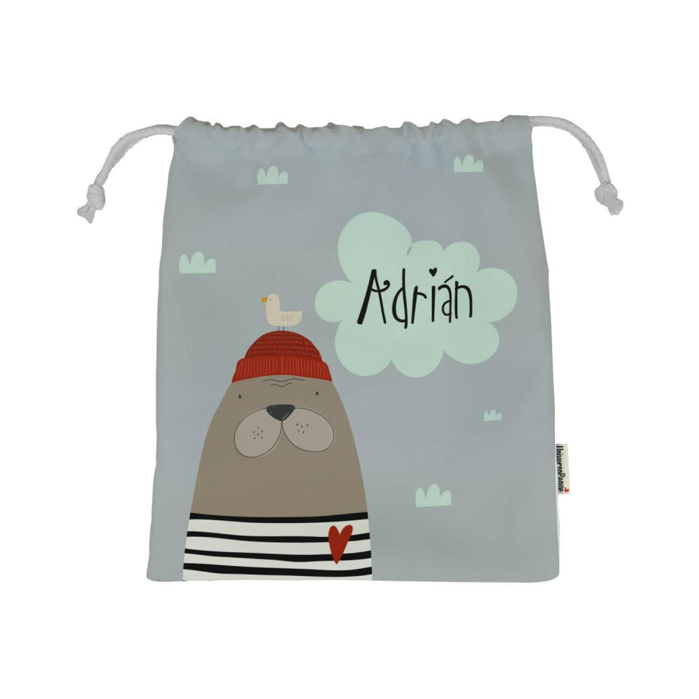 bolsa con el diseño de una foca