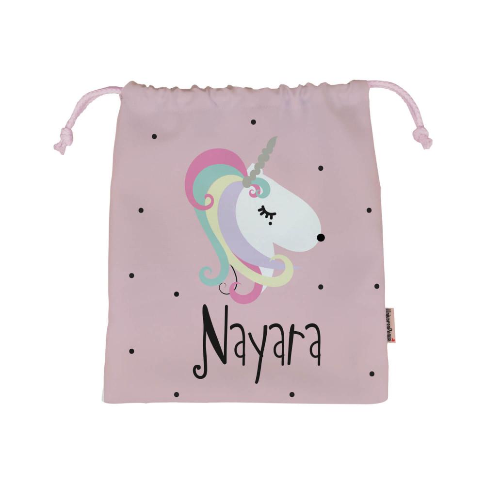 Bolsa de almuerzo o merienda para el cole o la guarderia con el diseño de un Unicornio.