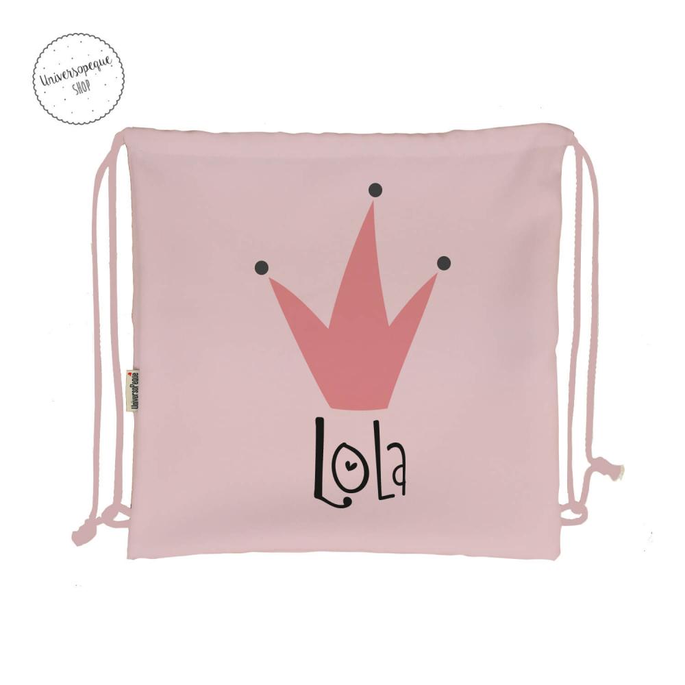 mochila guardería personalizada Reina rosa