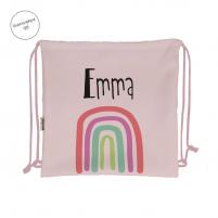 mochila arco iris rosa