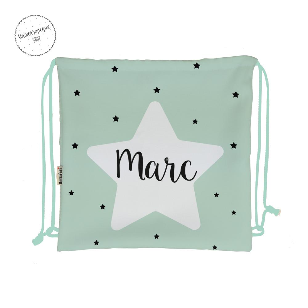 mochila personalizada estrella mint