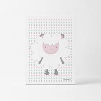Lámina Infantil animal oveja cuadro infantil decorativo unisex