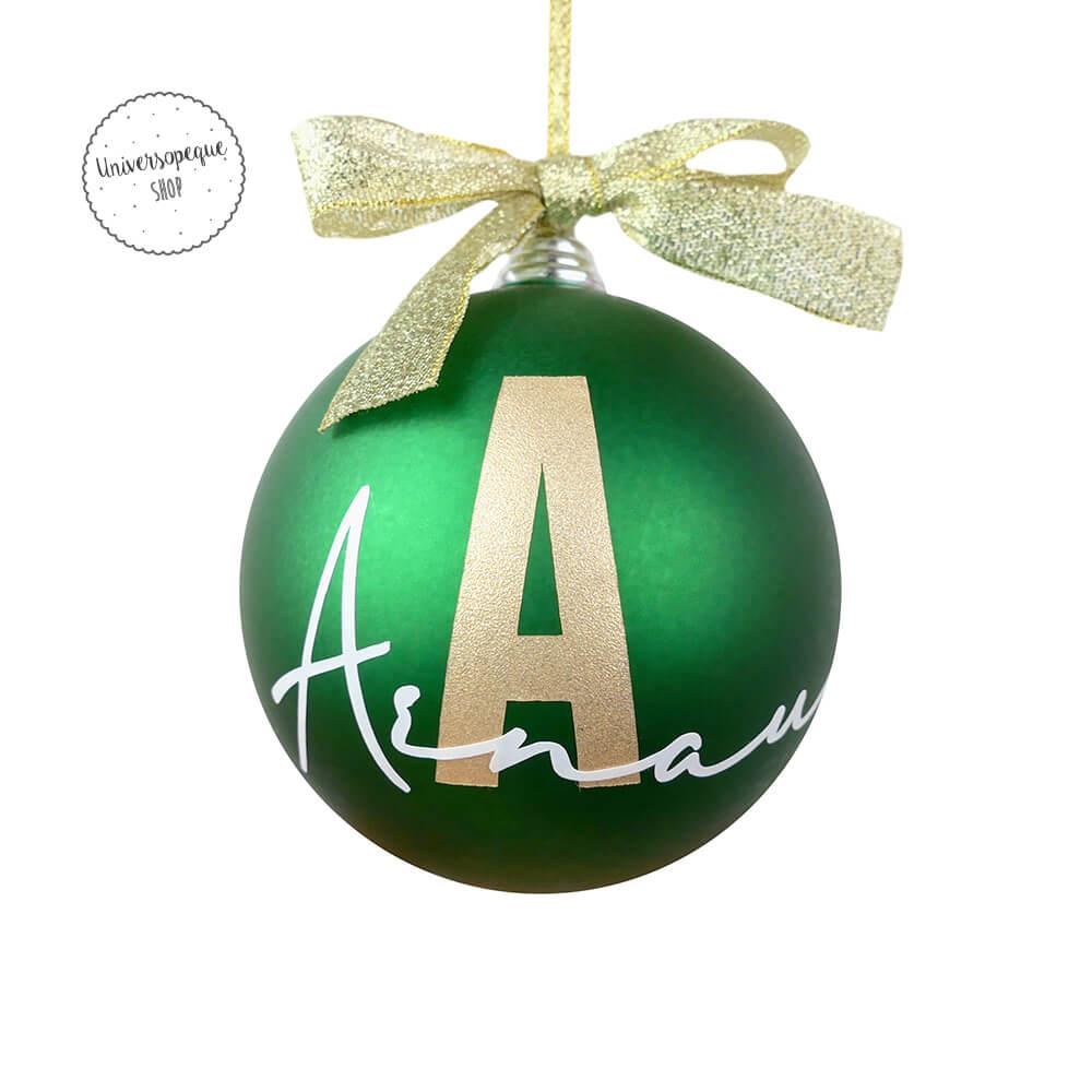 Bola Navidad Personalizada Verde