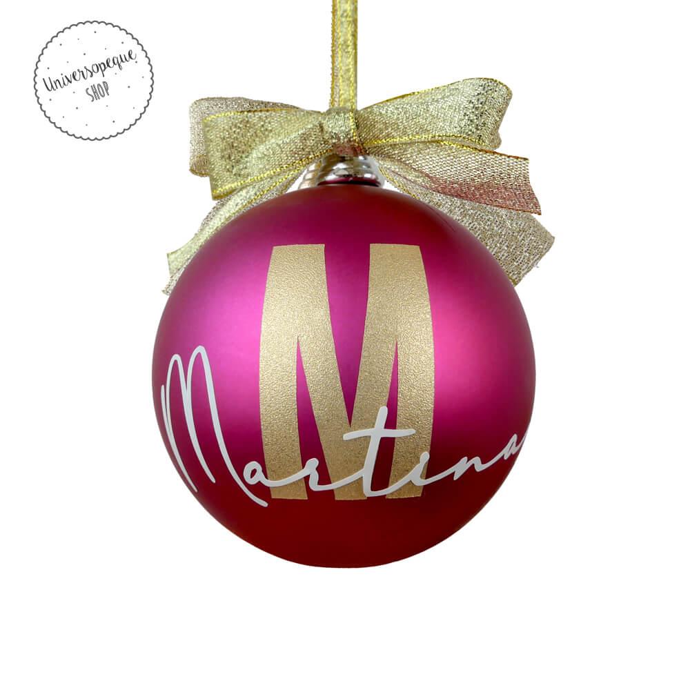 bola rosa para decorar el árbol