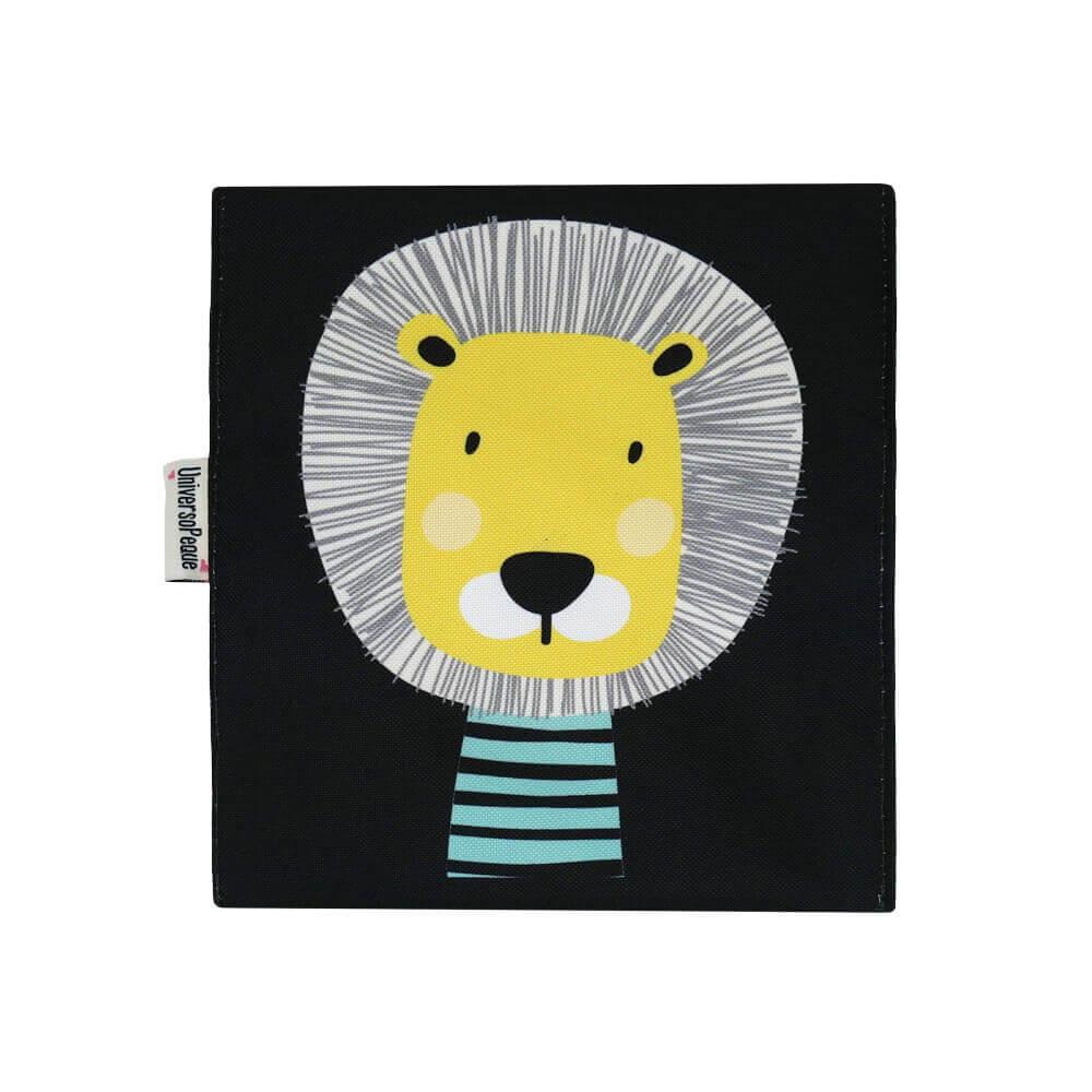 porta alimentos con el dibujo de un león