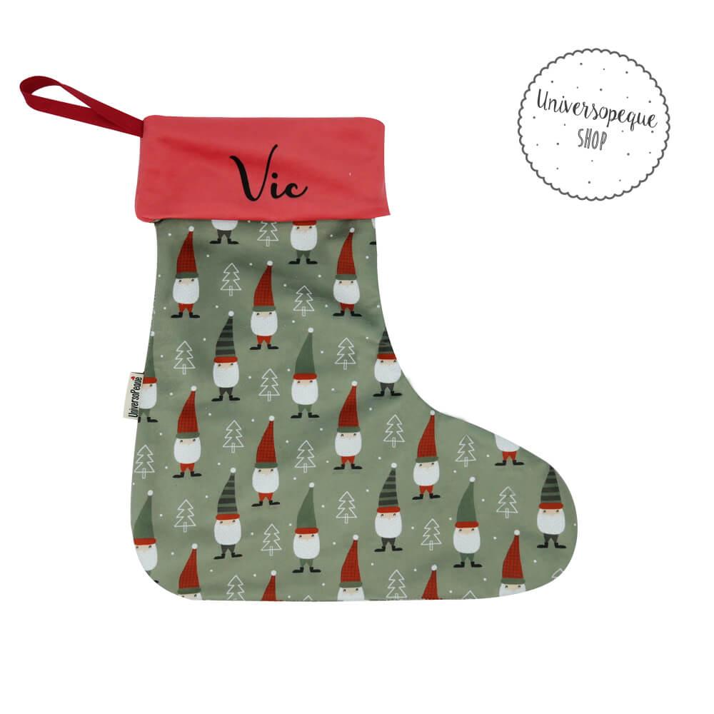 calcetin navideño gnomos