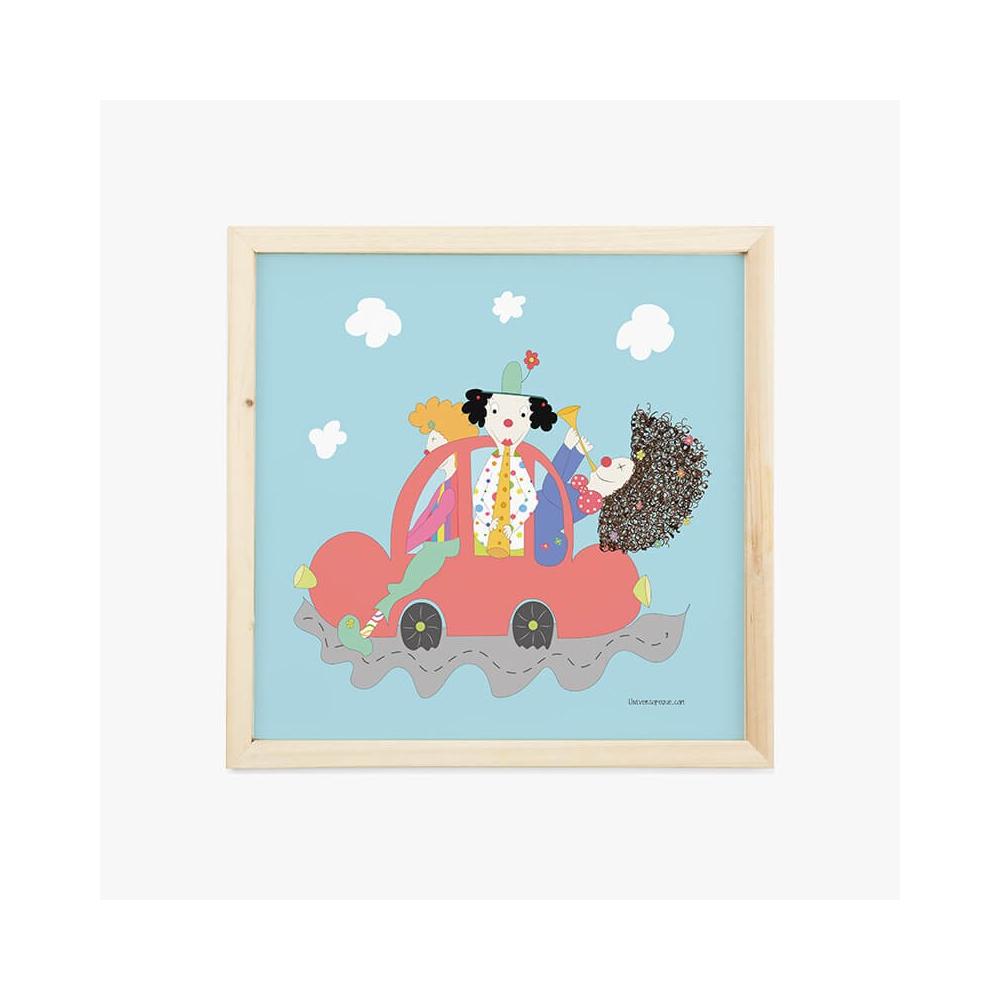 Lámina Infantil Oficio Músico cuadro infantil decorativo habitación Bebé, Niña o Niño