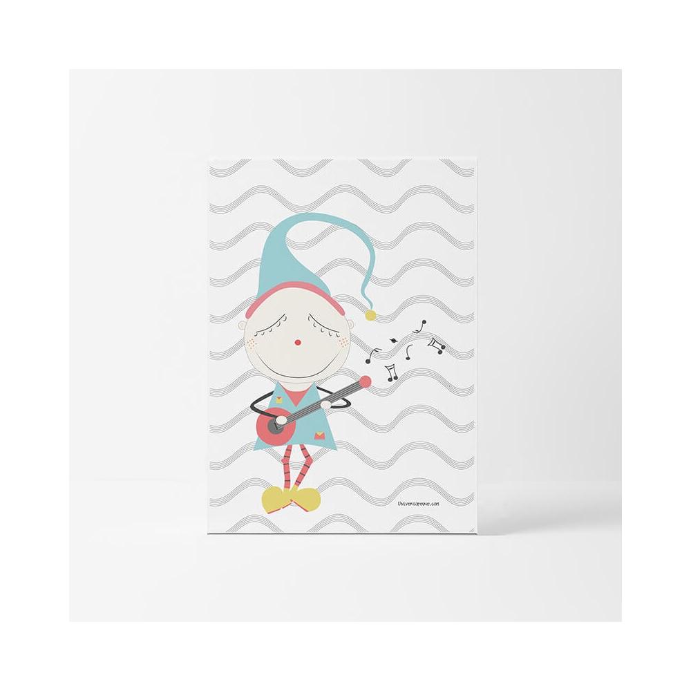 Lámina Infantil Oficio Trovador cuadro infantil decorativo habitación Bebé, Niña o Niño