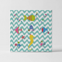 Lámina Infantil Animales Fondo Mar cuadro infantil decorativo habitación Bebé, niña o niño