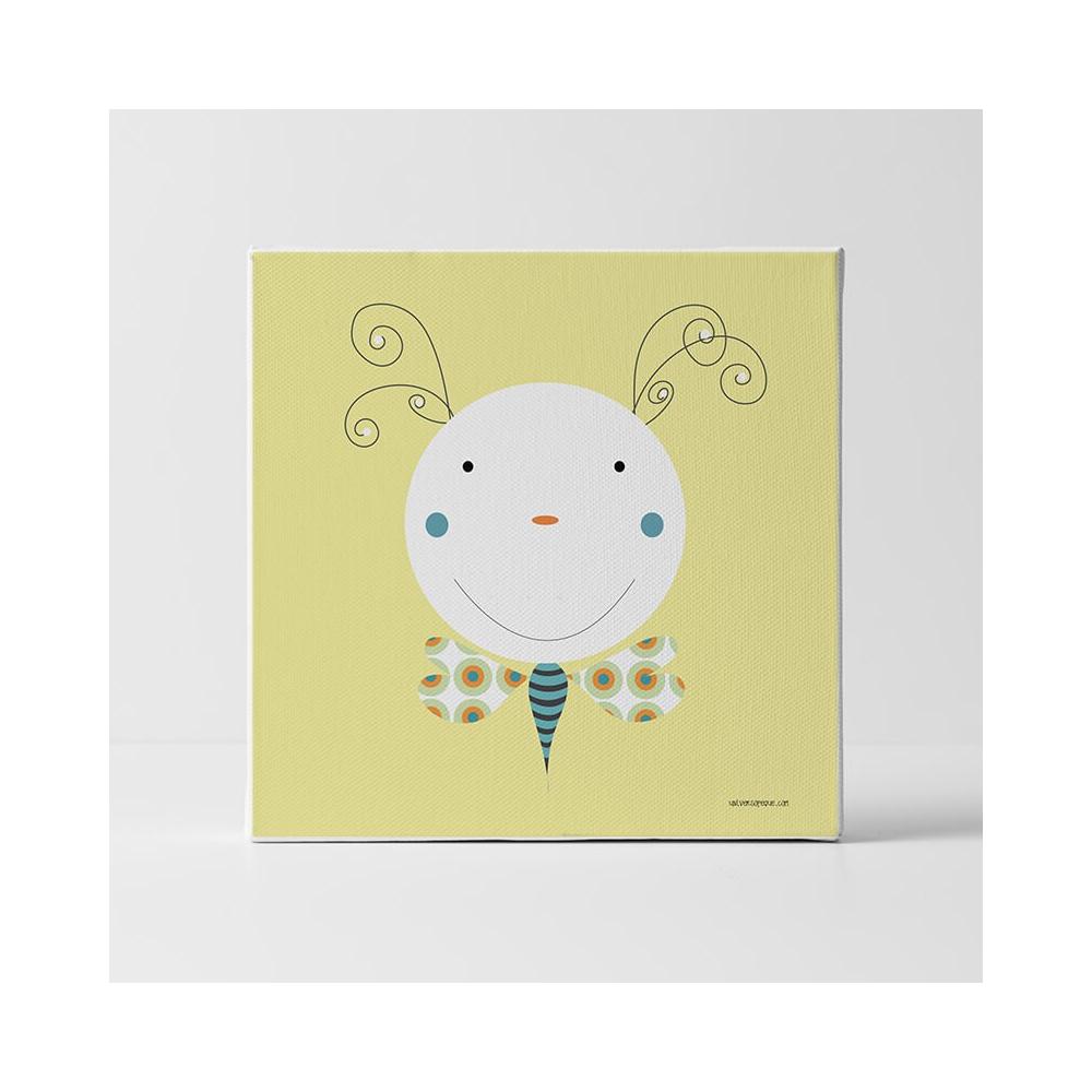 Lámina Infantil Animal Gusano Mariposa cuadro infantil decorativo habitación Bebé, Niño o Niña