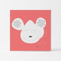 Lámina Infantil Animal Orejas cuadro infantil decorativo habitación Bebé, Niña o Niño