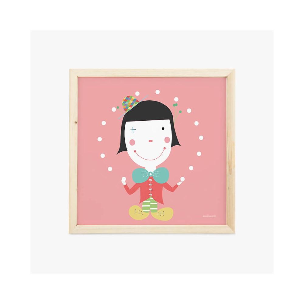 Lámina Infantil Oficio Payaso cuadro infantil decorativo para la habitación del Bebé, NIña o Niño.