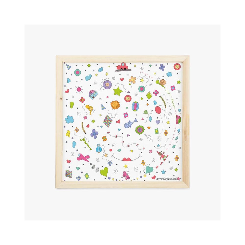 Lámina Infantil Rueda cuadro decorativo para la habitación del Bebé, Niño o NIña