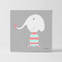 Lámina Infantil Animal Elefante cuadro decorativo para la habitación del Bebé, Niño o Niña