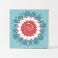 Lámina Infantil Mandala para Niños cuadro decorativo