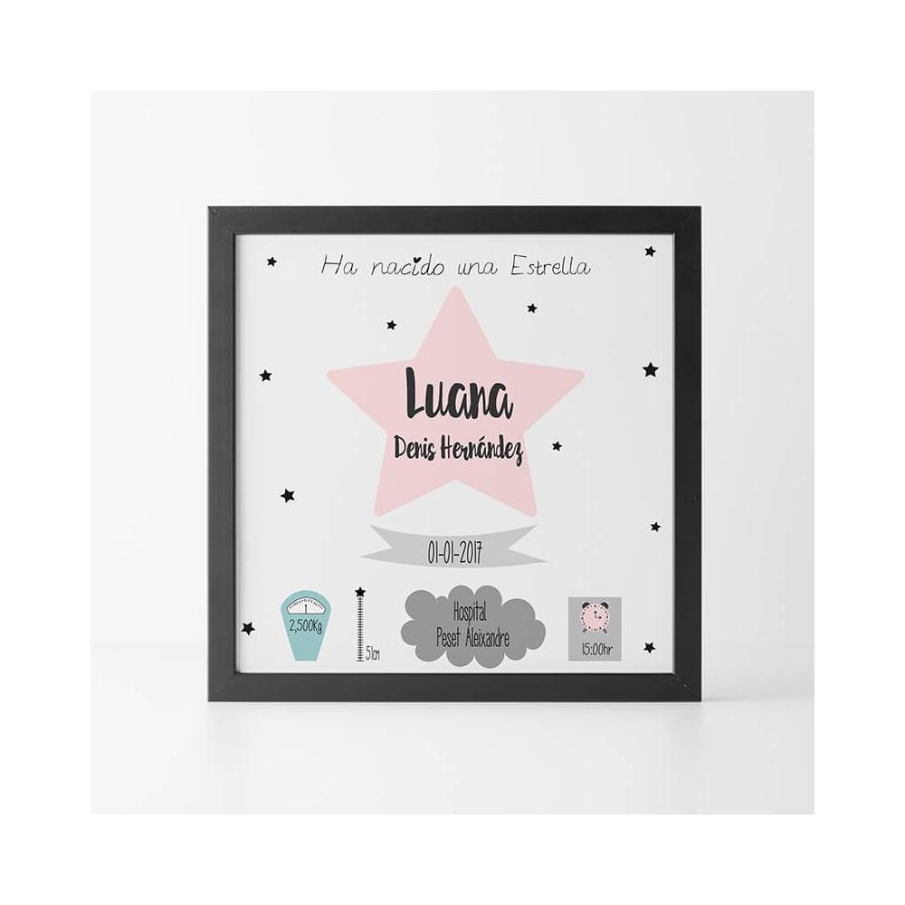 Natalicio Personalizado Estrella Rosa Regalos para Bebés Personalizados